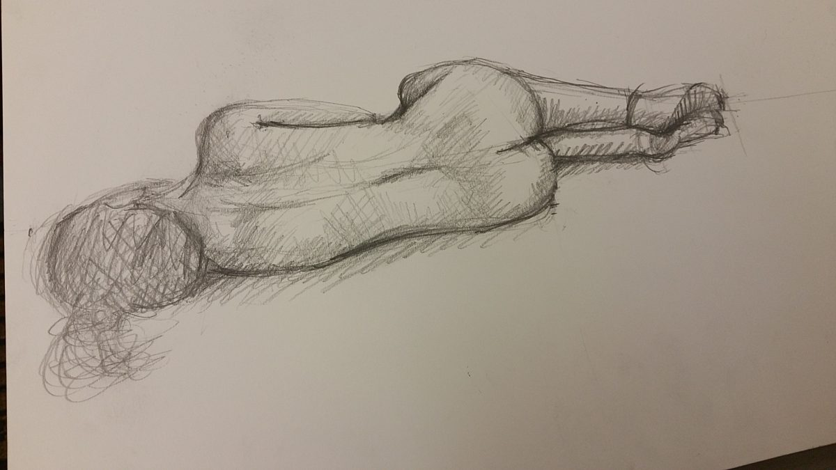 Life Drawing Session 2 – Using the space