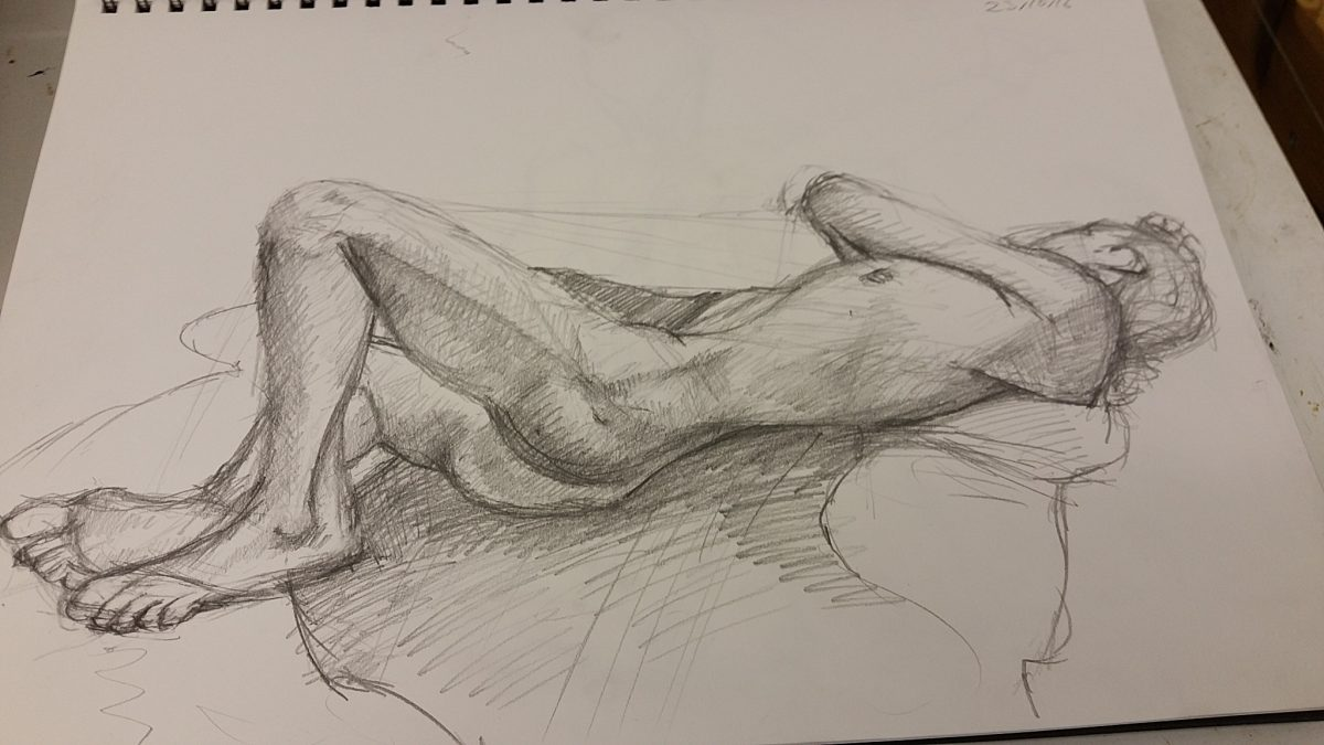 Life Drawing Session 3 – Breaking the rules