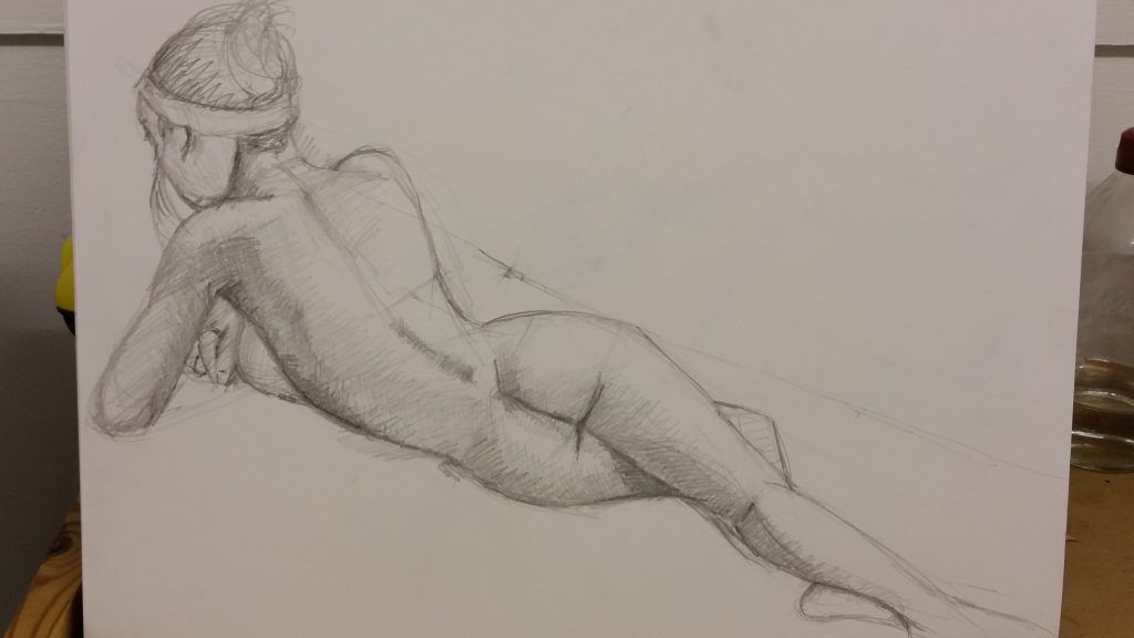 Pencil on paper (1) - 45 minutes