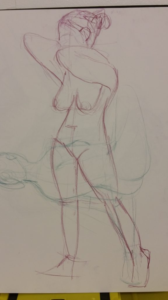 Colour pencil, 5 Minute poses