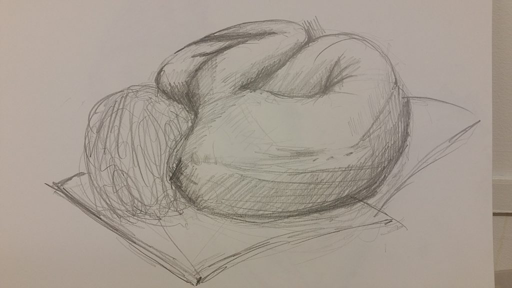 Fetal pose, 5 Mins 2B pencil