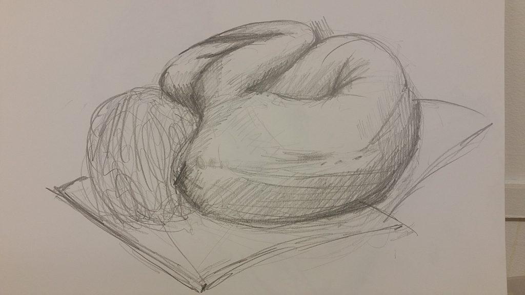 Fetal pose, 5 Mins 2B pencil
