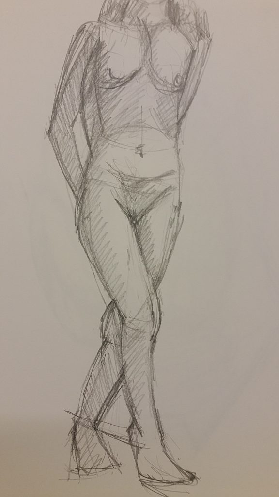 2B Pencil - 15 Minute Pose