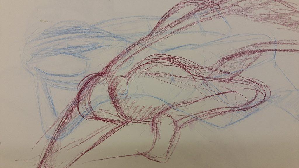 Colour pencil - 2 minute poses